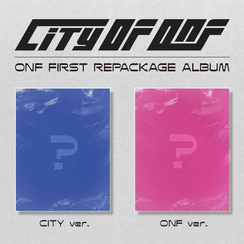 [PRE-ORDER] 온앤오프(ONF) - REPACKAGE ALBUM [CITY OF ONF] (CITY ver.+ ONF ver. = 2CD SET)케이팝스토어(kpop store)