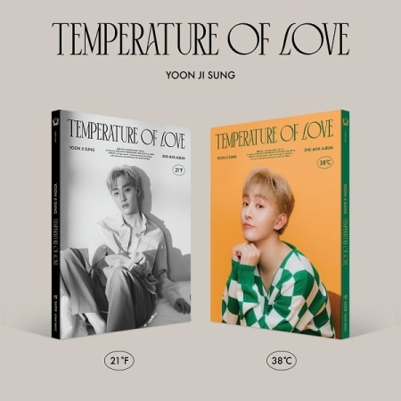 [PRE-ORDER] 윤지성(Yoon Ji Sung) - 2ND MINI ALBUM [Temperature of Love] (21℉ ver. + 38℃ ver. = 2CD SET)케이팝스토어(kpop store)