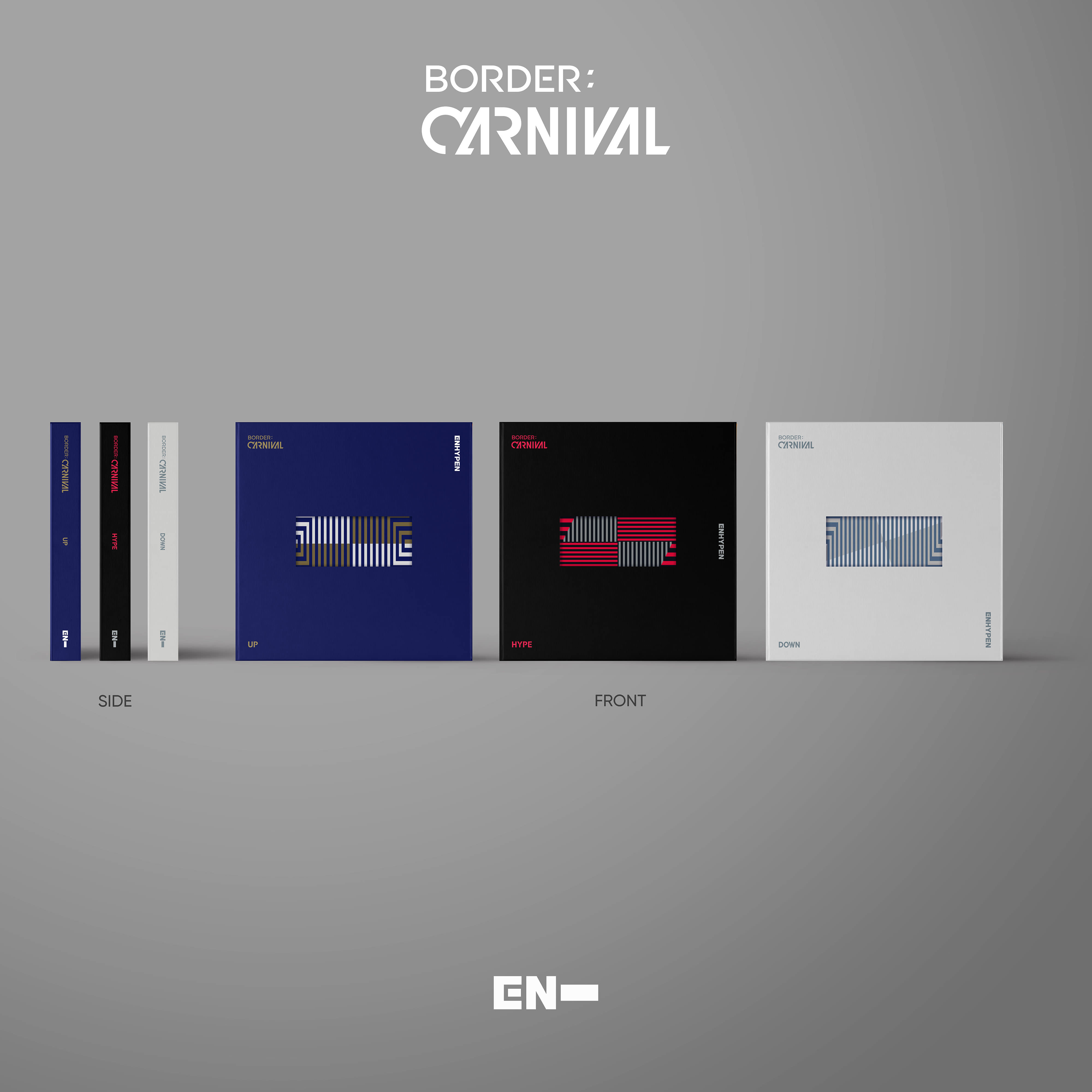 [PRE-ORDER] 엔하이픈(ENHYPEN) - 2ND MINI ALBUM [BORDER : CARNIVAL] (UP Ver. + HYPE Ver. + DOWN Ver. = 3CD SET)케이팝스토어(kpop store)